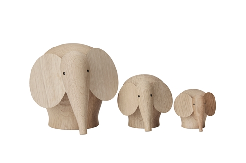 Woud, Træfigur, Elefant, Medium